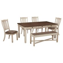 Bolanburg - Antique White 6 Piece Dining Room Set