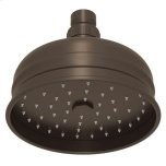 "RohlTuscan Brass 5"" Bordano Rain Anti-Calcium Showerhead"