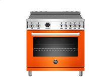 36 inch Induction Range, 5 Heating Zones, Electric Self-Clean Oven Orange