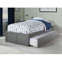 Concord Twin Flat Panel Foot Board with Urban Trundle Atlantic Grey