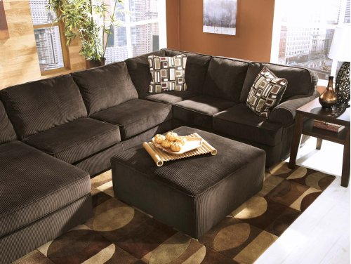 Vista - Chocolate 3 Piece Sectional