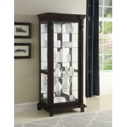 Traditional Brown Curio Cabinet Product Image