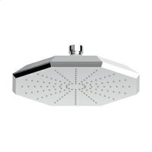 Brass shower head single jet, with anti-limescale system.