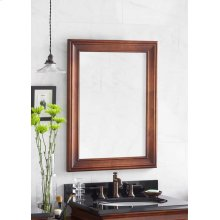 "Traditional 24"" x 32"" Solid Wood Framed Bathroom Mirror in Colonial Cherry"
