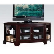 Espresso Corner TV Stand