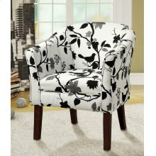 Playful Bird and Branch Accent Chair