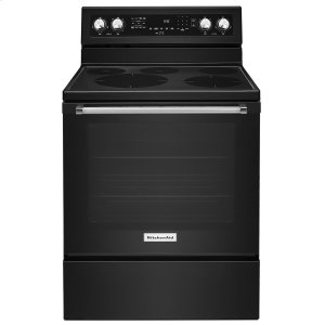 Kitchenaid30-Inch 5-Element Electric Convection Range Black