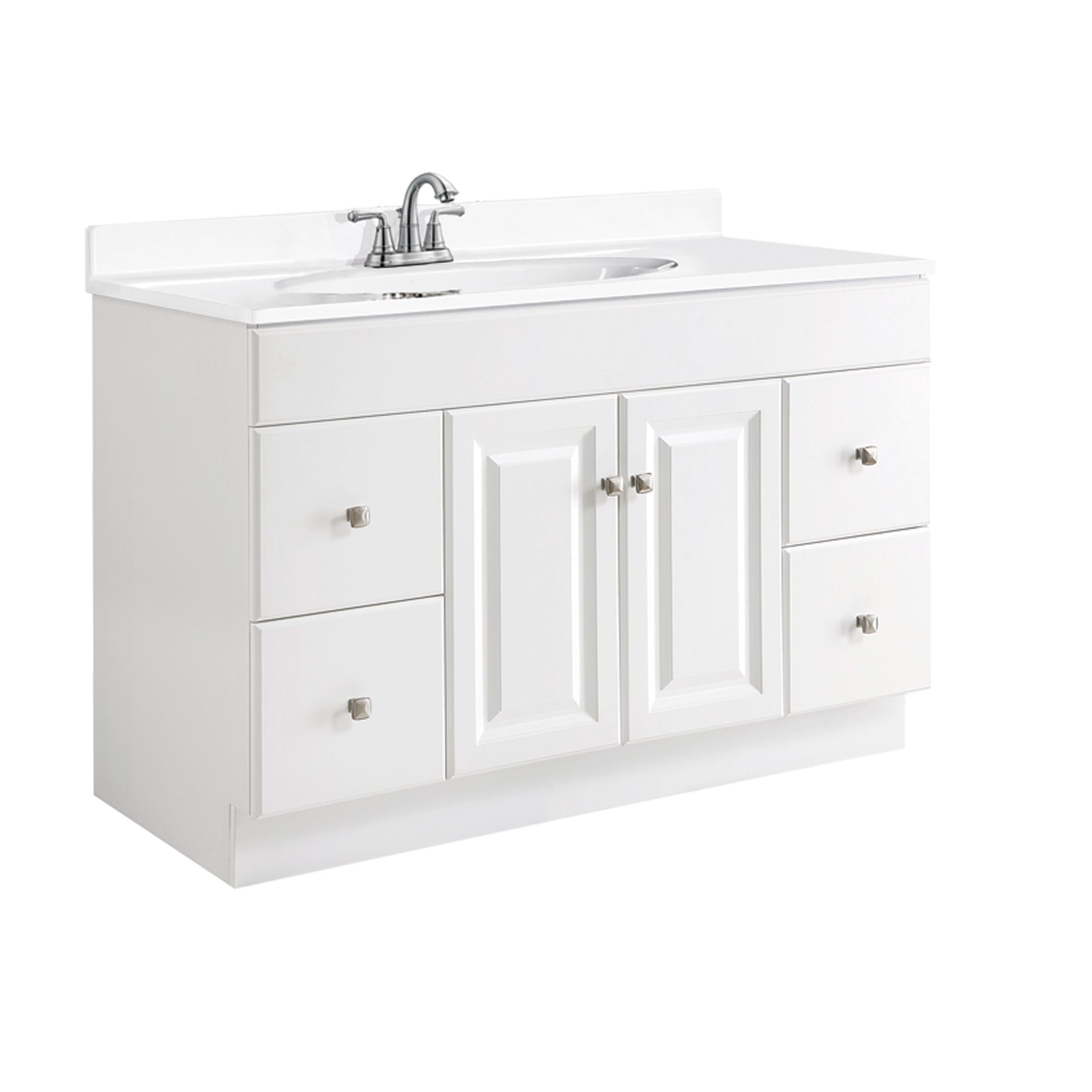 "Wyndham 2-Door 4-Drawer Vanity Cabinet 48"", White #531145"