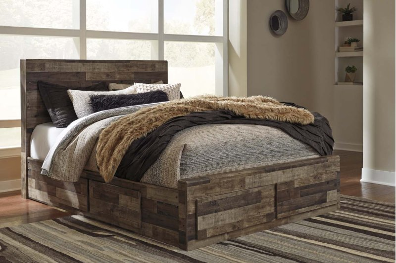 83462a82d80302 ... Bedroom Groupsets; Ashley Furniture B200B8. Special Order. Derekson - Multi  Gray 5 Piece Bed Set (Queen)