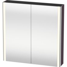 Mirror Cabinet, Aubergine Satin Matt Lacquer