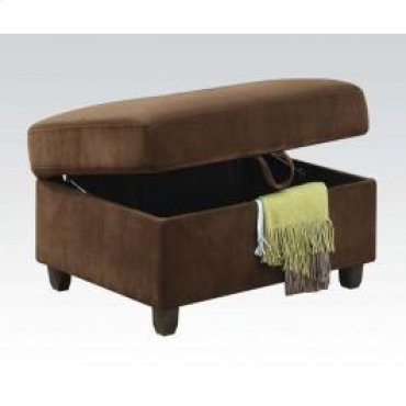 Chocolate Ottoman W/storage