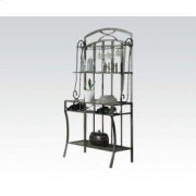Wh Faux Marble Baker's Rack Product Image