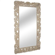 Sophia Carved Mirror White