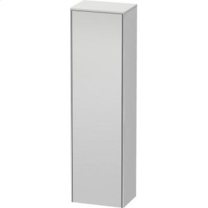 Tall Cabinet, White Satin Matt Lacquer