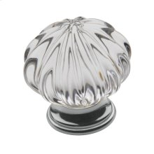 Polished Chrome Crystal Cabinet Knob