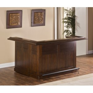 Hillsdale FurnitureClassic Large Bar With Side Bar, Brown Cherry Finish