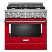 KitchenAid® 36'' Smart Commercial-Style Gas Range with 6 Burners Passion Red