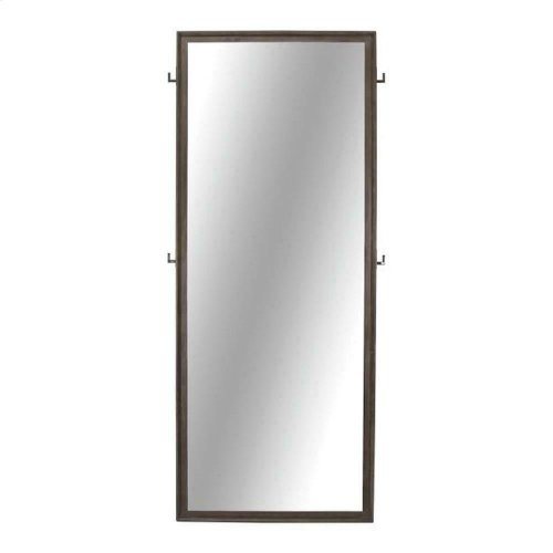Tarah Industrial Graphite Floor Mirror