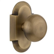 Nostalgic - Single Dummy Knob - Cottage Plate with New York Knob in Antique Brass