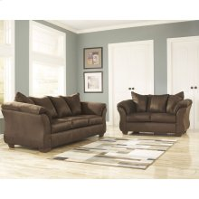Signature Design by Ashley Darcy Living Room Set in Cafe Microfiber