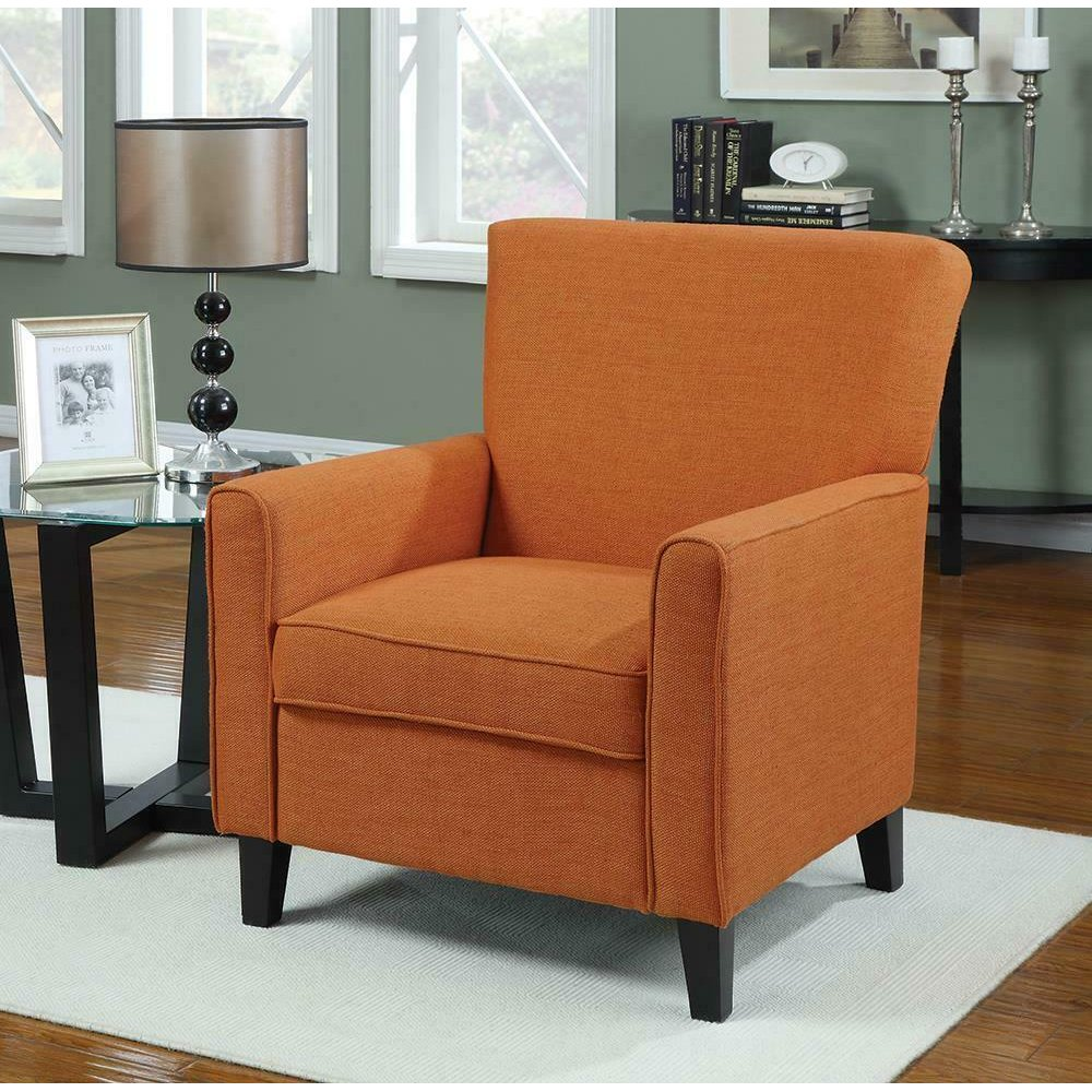 Casual Orange Accent Chair