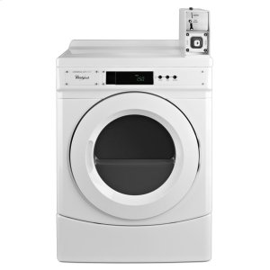 "Whirlpool27"" Commercial Electric Front-Load Dryer Featuring Factory-Installed Coin Drop with Coin Box"