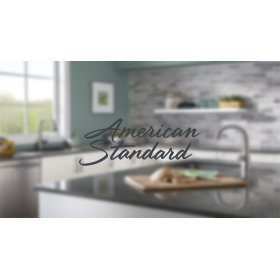 Colony Soft 2-Handle Kitchen Faucet with Separate Side Spray  American Standard - Stainless Steel
