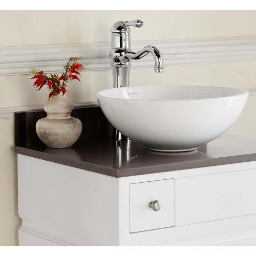 Round Ceramic Vessel Bathroom Sink in White