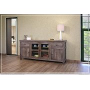 """80"""" TV Stand w/2 Drawers, 2 doors, 2 glass doors, 2 shelves Product Image"""