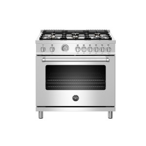 "Bertazzoni36"" Master Series range - Gas oven - 6 brass burners - LP version"