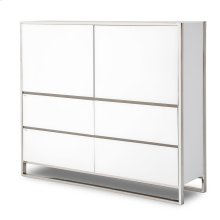 Metal Storage Cabinet Glossy White