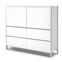 Metal Storage Cabinet Glossy White