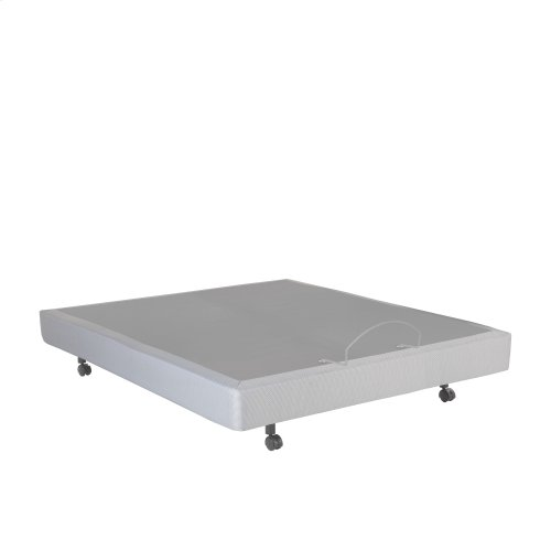 Signature Adjustable Bed Base with Ultra-Quiet Motor and Wireless Remote, Gray Finish, Queen