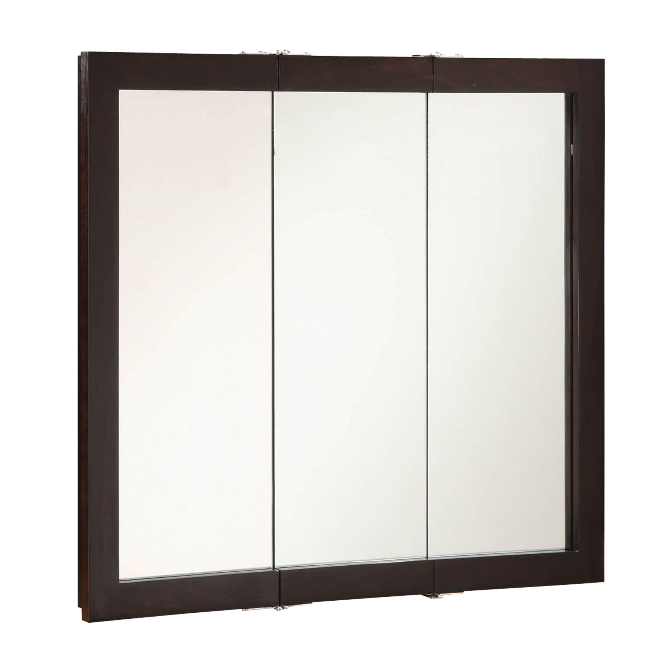 """Ventura Tri-View Medicine Cabinet Mirror 36"""", Espresso #541359"""