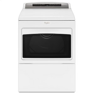 7.4 cu. ft. Top Load Electric Dryer with AccuDry Sensor Drying Technology - WHITE