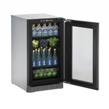 "2000 Series 18"" Glass Door Refrigerator With Integrated Frame Finish and Field Reversible Door Swing (115 Volts / 60 Hz)"