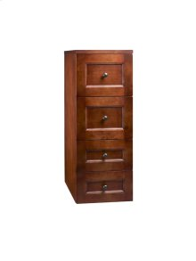 """Milano 12"""" Drawer Bridge with Four Drawers in Colonial Cherry"""