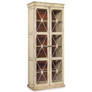 Hooker FurnitureDining Room Sanctuary Two-Door Thin Display Cabinet - Dune