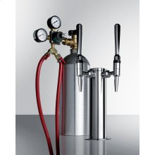 Dual Tap System With Nitrogen Tank To Serve Nitro-infused Coffee From Most Beer Dispensers
