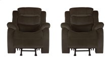 Candice Brown Fabric Glider Recliner Chair