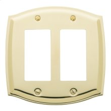 Polished Brass Colonial Double GFCI