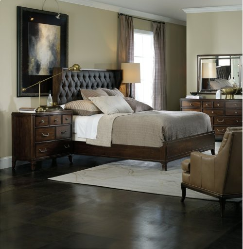 Bedroom Palisade Upholstered Shelter Queen Bed - Carbon Fabric