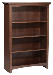 "CAF 48""H x 30""W McKenzie Alder Bookcase in Cafe Finish"