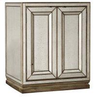 Bedroom Sanctuary Two-Door Mirrored Nightstand - Visage Product Image