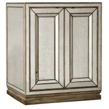 Bedroom Sanctuary Two-Door Mirrored Nightstand - Visage