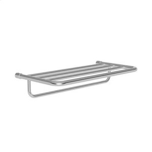 """Oil Rubbed Bronze - Hand Relieved 20"""" Hotel Shelf Frame with Towel Bar"""