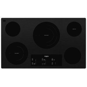 Whirlpool36-inch Electric Ceramic Glass Cooktop with Triple Radiant Element Black