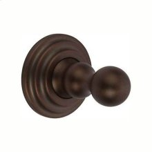Oil Rubbed Bronze - Hand Relieved Single Robe Hook