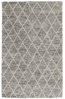 Diamond Looped Wool Gray 5x8