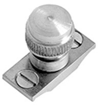 Satin Chrome Acorn sash stop without chain